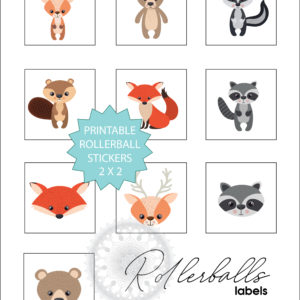 Baby + Kids woodland animals stickers VISUAL